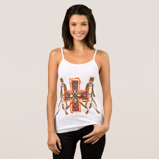 Tiger Celt Cross Ladies Spaghetti Strap Tank Top
