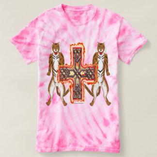 Tiger Celt Cross Ladies Tie-Dye T-Shirt