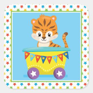 Tiger | Circus Train Square Sticker