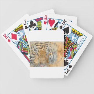 Tiger Close Up in Watercolor Bicycle Playing Cards