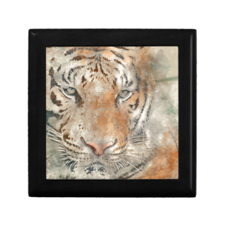 Tiger Close Up in Watercolor Gift Box