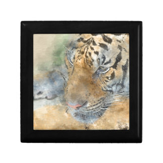 Tiger Close Up in Watercolor Gift Boxes