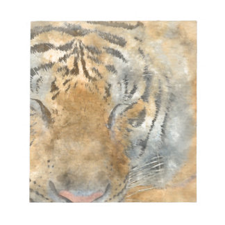 Tiger Close Up in Watercolor Notepad