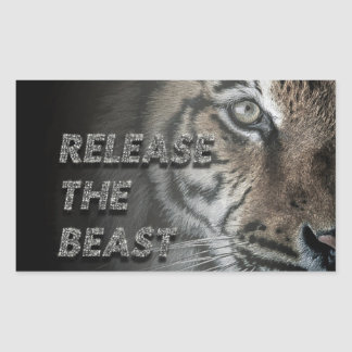 "Tiger close-up sticker ""Release the beast"""