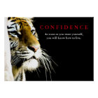 Tiger Confidence Quote Inspirational Poster