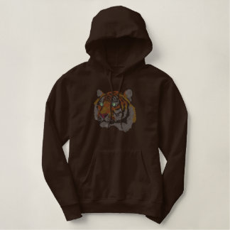 Tiger Cross-stitch Embroidered Hoodie