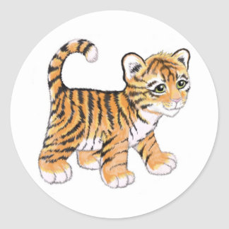 Tiger Cub Classic Round Sticker