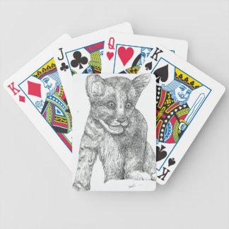 Tiger Cub pen and ink Poker Deck