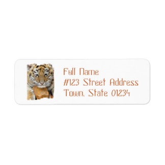 Tiger Cub Return Address Mailing Label