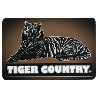 Tiger Decorative Black Brown Floor Mat