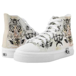 Tiger Designs Zipz High Tops Shoes