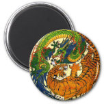 Tiger & Dragon Yin Yang Refrigerator Magnets
