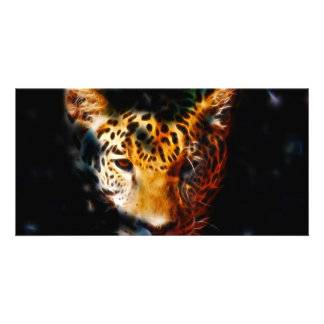 Tiger emerging photo greeting card