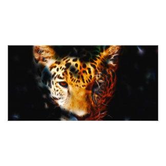 Tiger emerging custom photo card