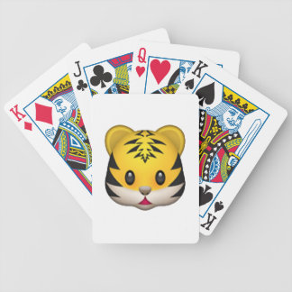 Tiger - Emoji Bicycle Playing Cards