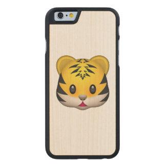 Tiger - Emoji Carved Maple iPhone 6 Case