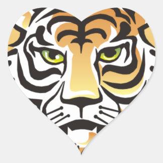 Tiger Eyes Heart Sticker