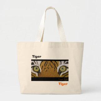 tiger eyes large tote bag