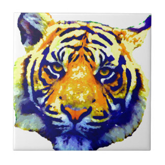 Tiger Eyes Pop Art Ceramic Tiles