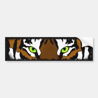 Tiger Eyes Stone Frame (bumper sticker) Bumper Sticker