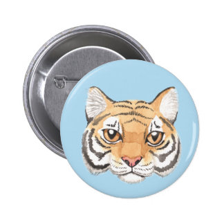 Tiger Face 2 Inch Round Button