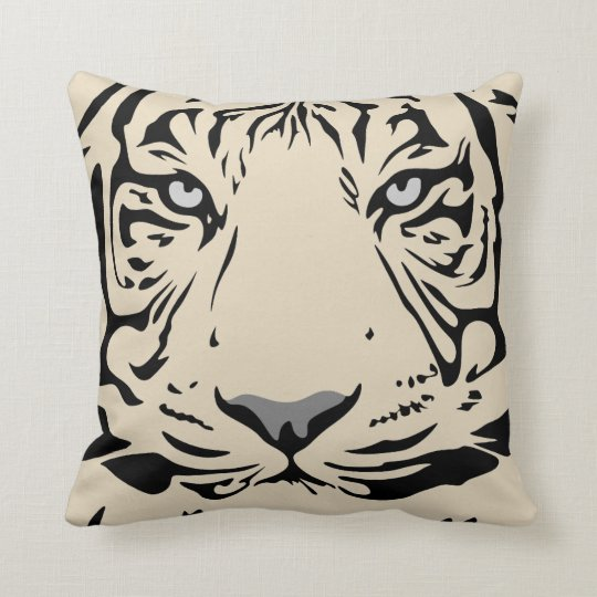 Tiger face background throw pillow