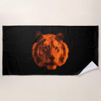 Tiger Face Beach Towel