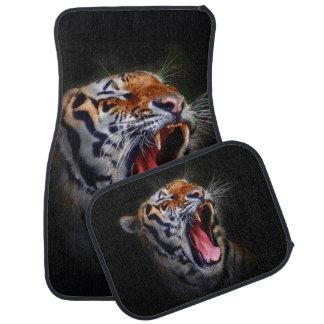 Tiger Face Car Mats