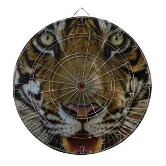 Tiger Face Close Up Dartboard