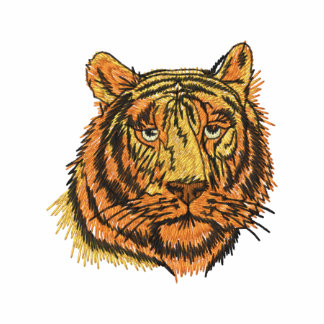 Tiger Face Embroidered Shirt