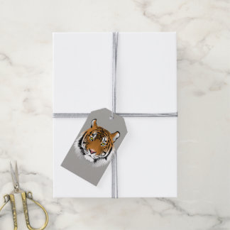 Tiger face gift tags pack of gift tags