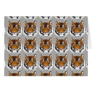 Tiger face greetings card