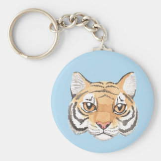 Tiger Face Keychain