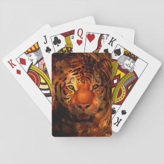 Tiger face playing cards
