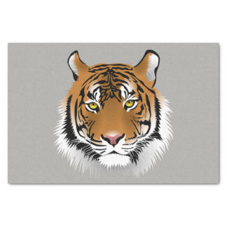 Tiger face tissue paper
