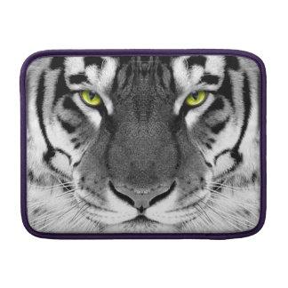 Tiger face - white tiger - eyes tiger - tiger MacBook sleeve