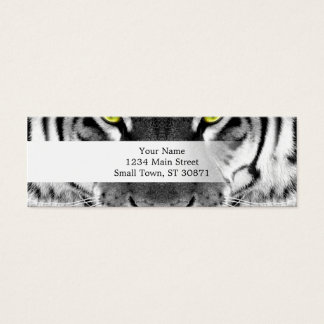 Tiger face - white tiger - eyes tiger - tiger mini business card