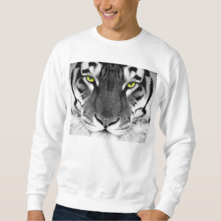 Tiger face - white tiger - eyes tiger - tiger sweatshirt