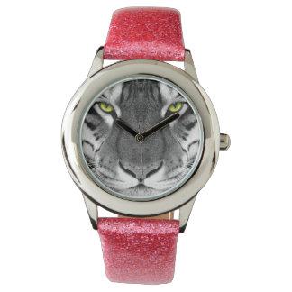 Tiger face - white tiger - eyes tiger - tiger watch