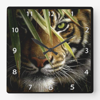 Tiger Face Wildlife Clock