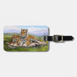 Tiger Family background Luggage Tag