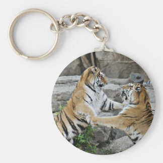 TIGER FIGHT - ACTION PHOTOGRAPH KEYCHAIN