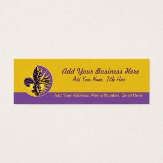 Tiger Fleur de lis Business Cards, skinny Mini Business Card