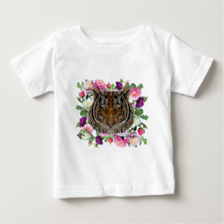 tiger flowers design baby T-Shirt