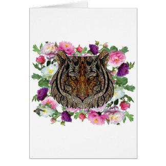tiger flowers design card