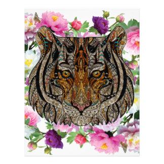 tiger flowers design letterhead