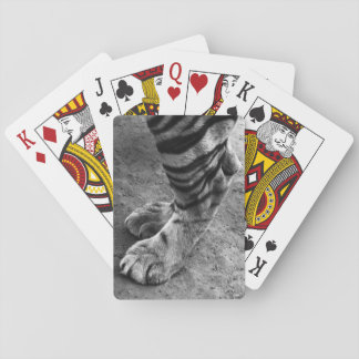 Tiger Foot Black and White Photograph Playing Cards