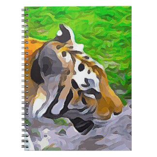 Tiger from Exhibit Spiral Notebook