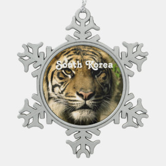 Tiger from South Korea Ornaments