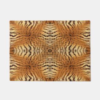 Tiger fur pattern doormat